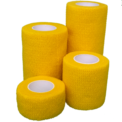 Yellow Cohesive Bandage