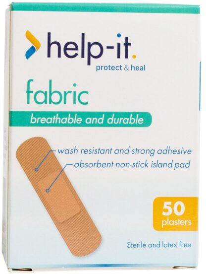 Help-It Fabric Plasters 50 per Box
