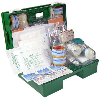 Industrial 1-25 Person First Aid Kit (In Mountable Plastic Case