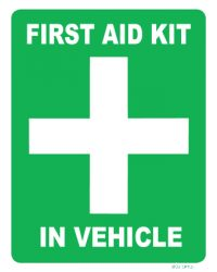Vehicle First Aid Sign