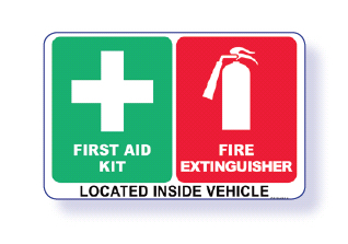 First Aid and Fire Extinguisher Sign